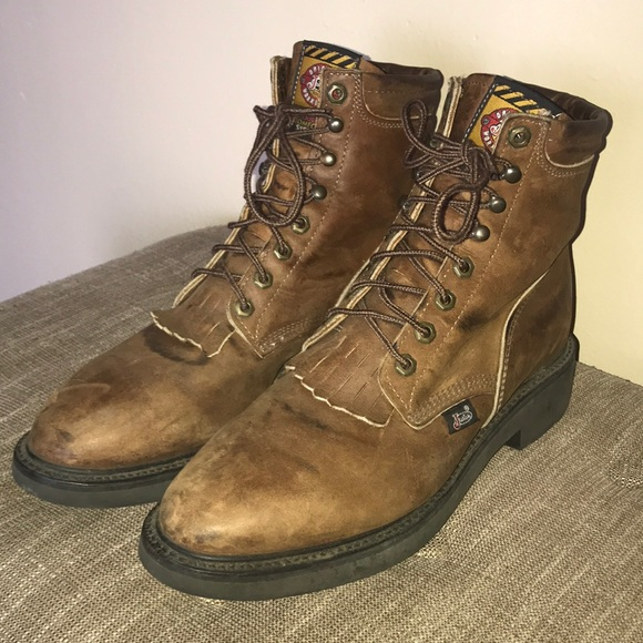 a071eb3981b Justin Boots: Conductor Work Boots
